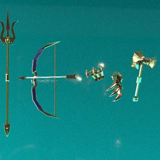 3D God Weapons 1-3
