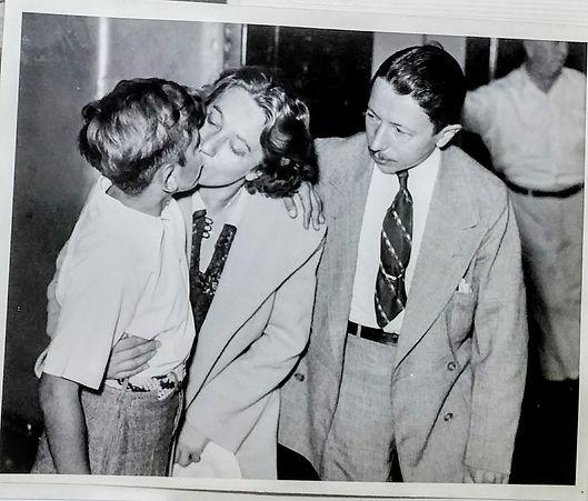 Anna Hahn její syn Oskar a manžel Philli