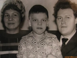 Anatoly Slivko and wife and child