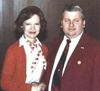 J.W.Gacy with Rosaline Carter