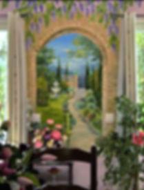 fresque Le Clos d'Eden résidence pour retraités