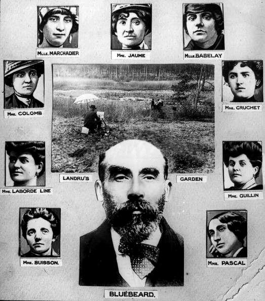 Landru a portrét devíti obětí