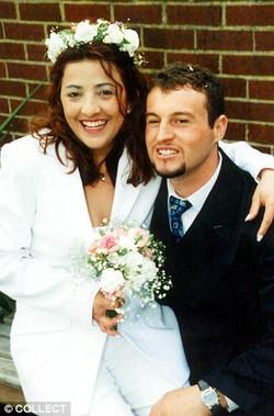 Mane Driza with ex-wife
