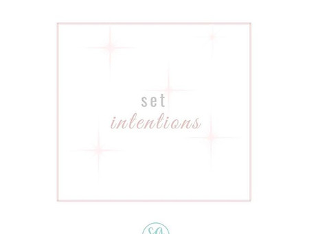 Setting Intentions for the New Year