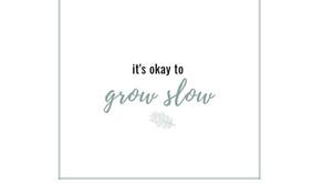 It's OK to Grow Slow