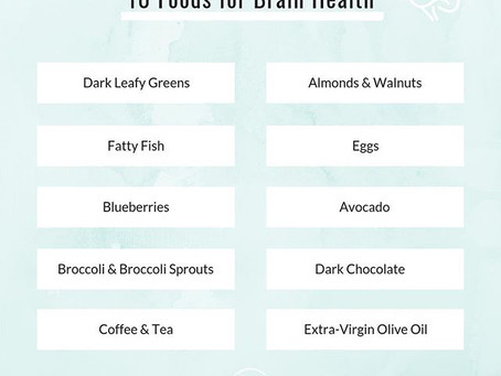10 Foods for Brain Health