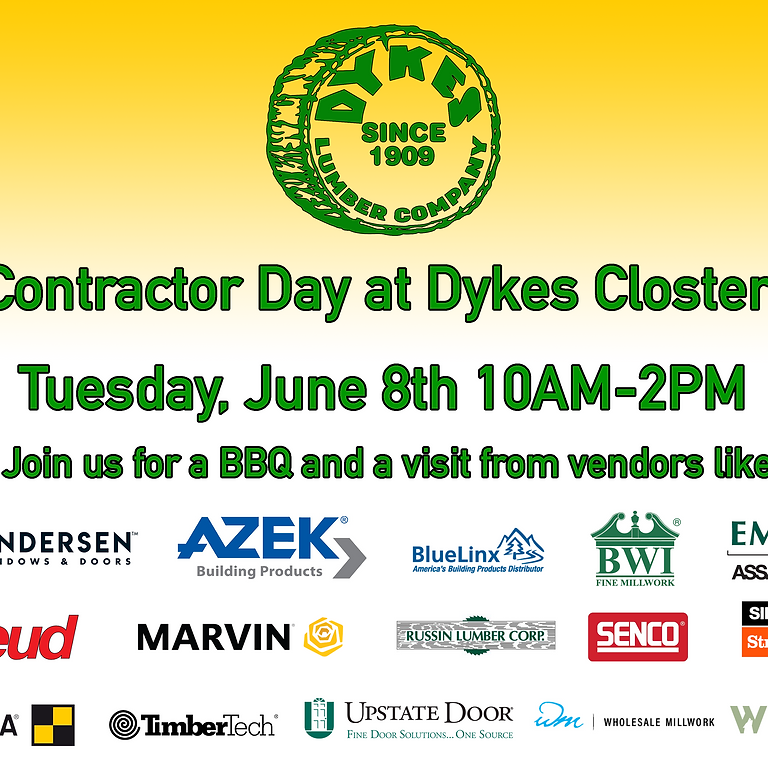 Contractor Day @ Dykes Lumber in Closter, NJ