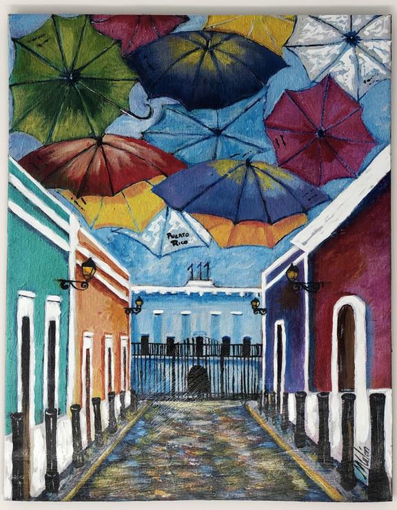 Sombrillas en la Calle Fortaleza