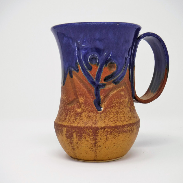 Hand-made Ceramic Mug - Dark Blue