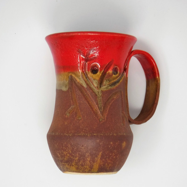 Hand-made Ceramic Mug - Red