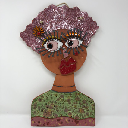 Lady with One Flower in Hair