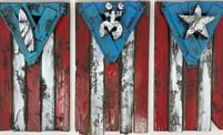 Puerto Rican Wooden Flags