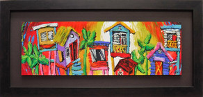 Casitas Landscape with Red Background