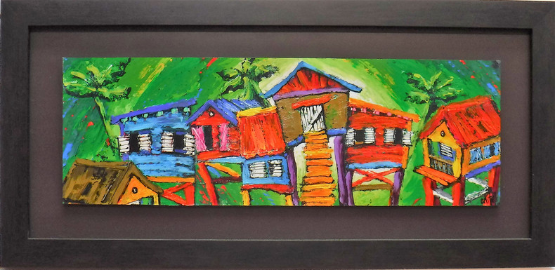Casitas Landscape with Green Background