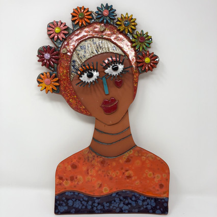 Lady with Flowers in Hair