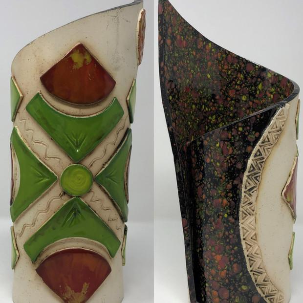 Geometric Designs with Black Vase