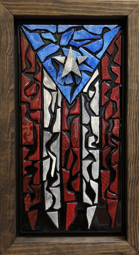 Puerto Rican Flag Mosaic with Star