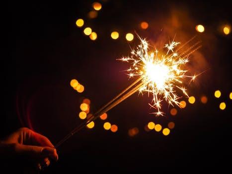 glowing sparkler