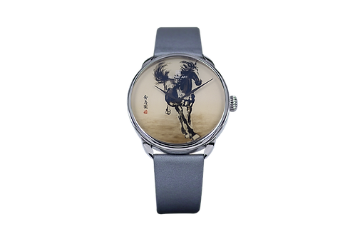 Galloping horses Inner Snuff Bottle Watch