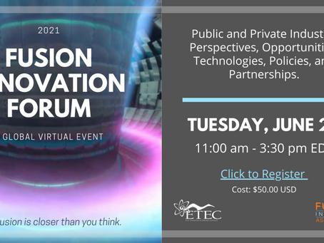 Event: Fusion Innovation Forum