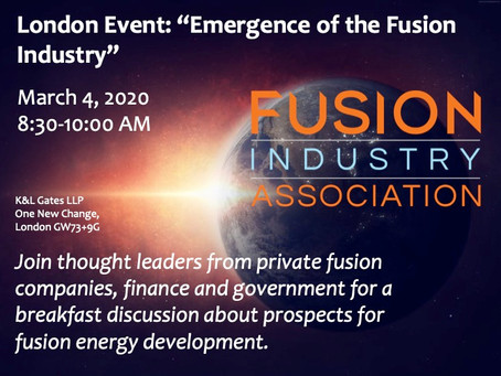 FIA Event: Emergence of the Fusion Industry - London