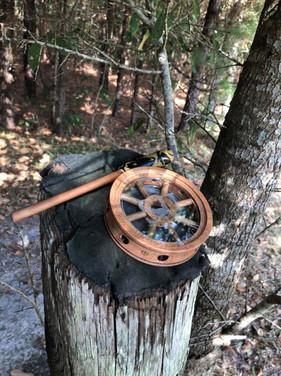 African Mahogany Wagon Wheel Double Sided