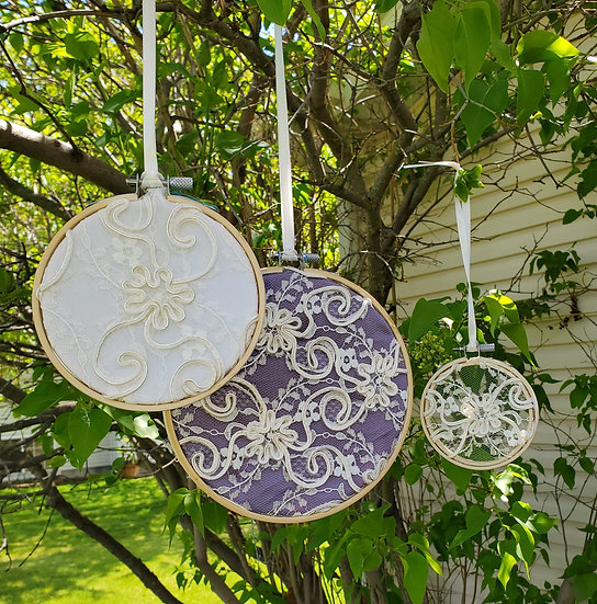Bridal Lace Embroidery Hoop Set