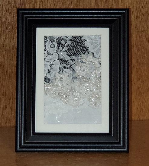 5x7 Framed Lace Keepsake