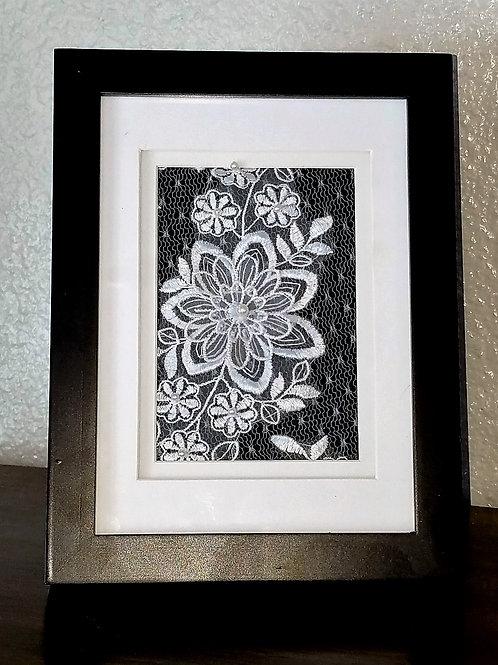 8x10 Framed Lace Keepsake