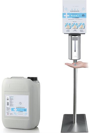 Dispenser Atiomatico gel igienizzante in