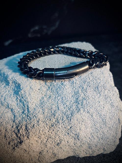 Dark Antique Silver Stainless Steel Bracelet KL95694