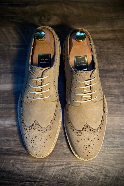 Wingtip Suede  Derby Shoes DS6908