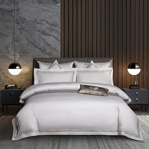 歐式簡約純色床單四件套