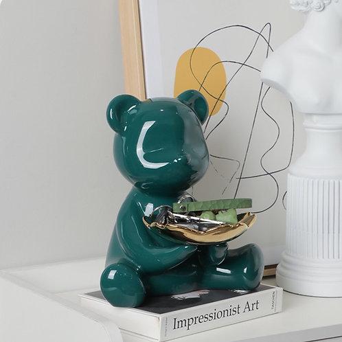 陶瓷可愛小熊收納托盤