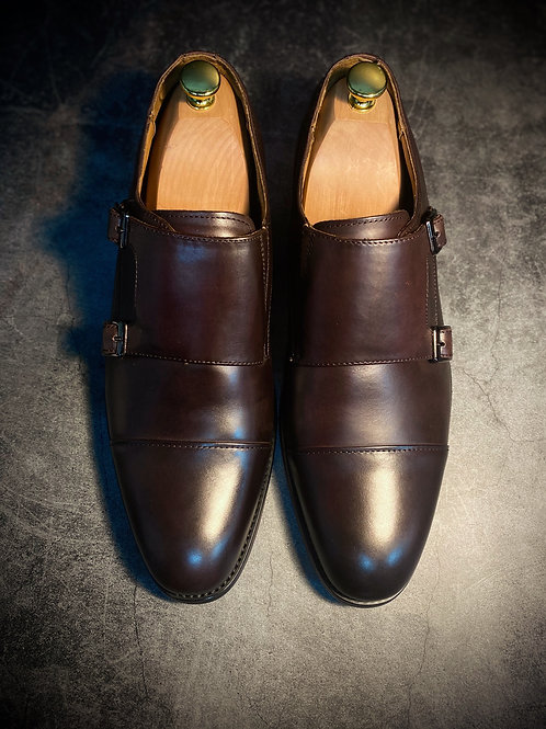 Leather Monk Strap Shoes 6718-11