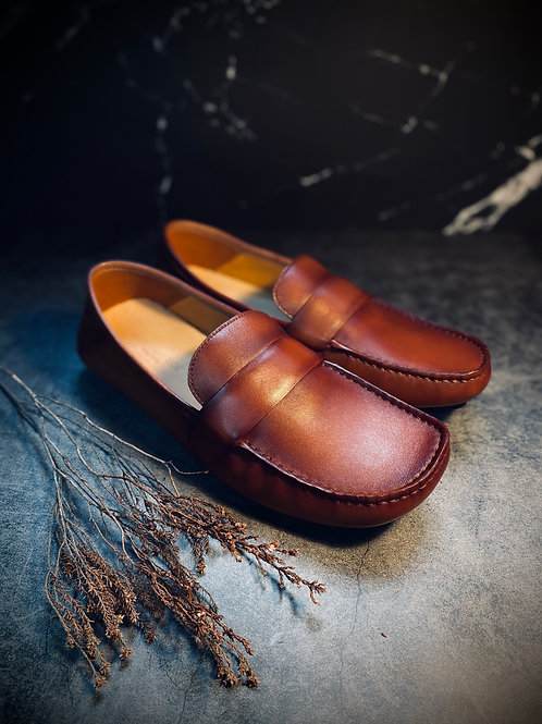 Cristoforo Vintage Leather Loafers BL06-1