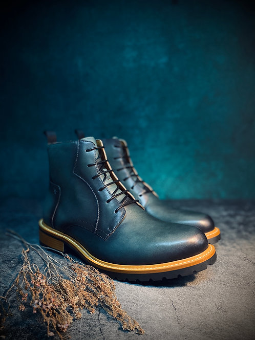 Vintage Leather Brogue Boot 017-5