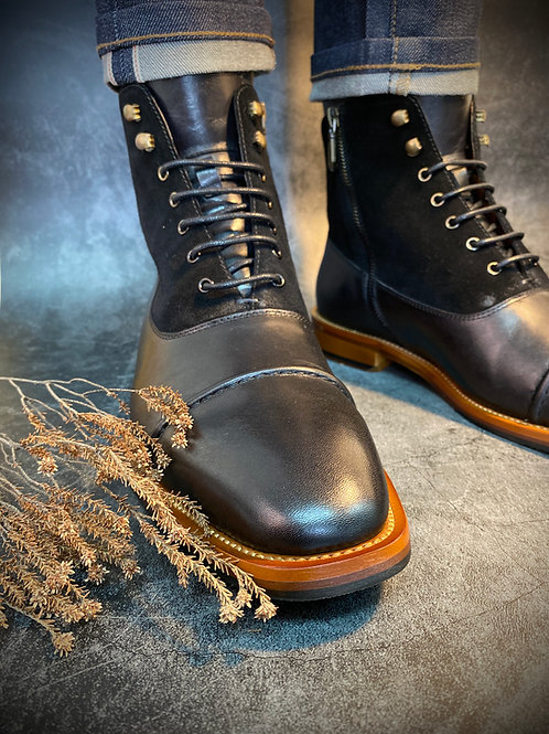 Bittter Leather Suede Brogue Boot G802-2