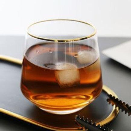 水晶玻璃圓形口威士忌杯