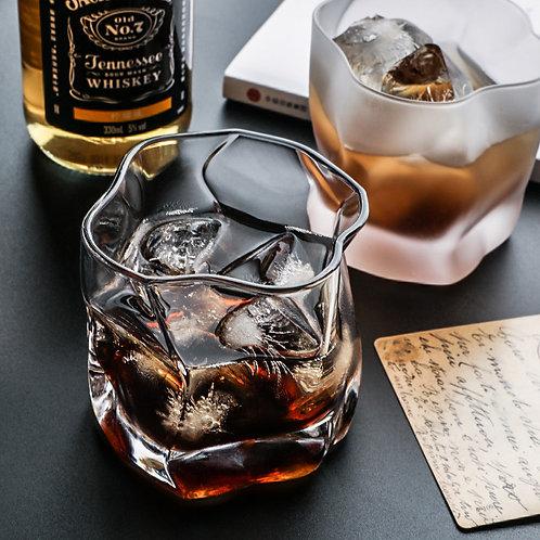 水晶扭形威士忌杯