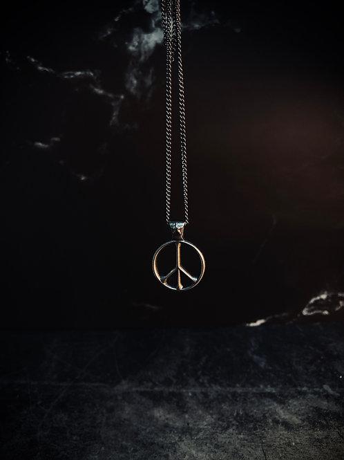 Stylish Peace Logo Necklace DW0153