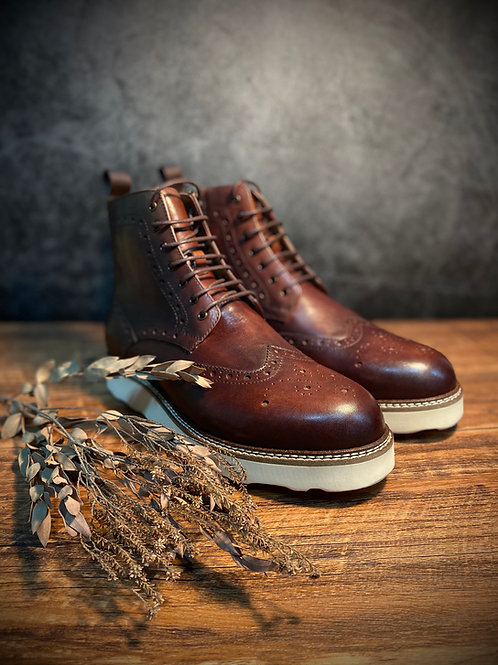 Vintage Leather Brogue Boot 615-1