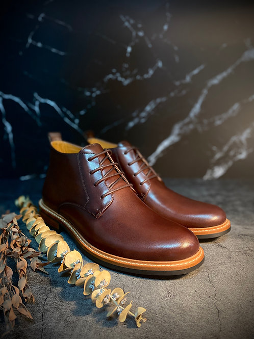 Vintage Leather Brogue Boot G03-8