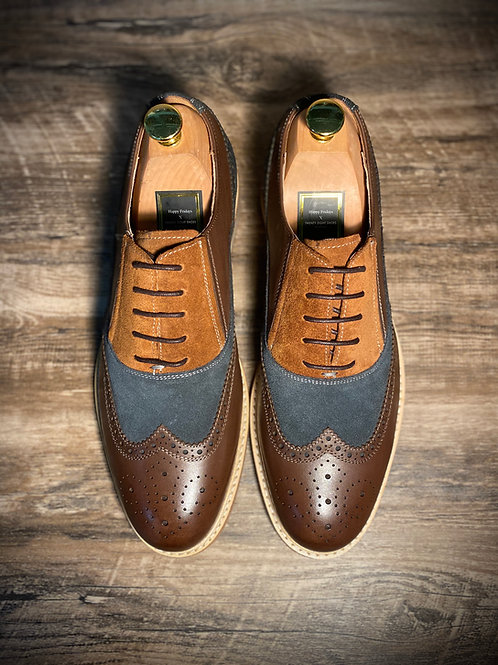 British Vintage  Suede Leather Oxford DS6852