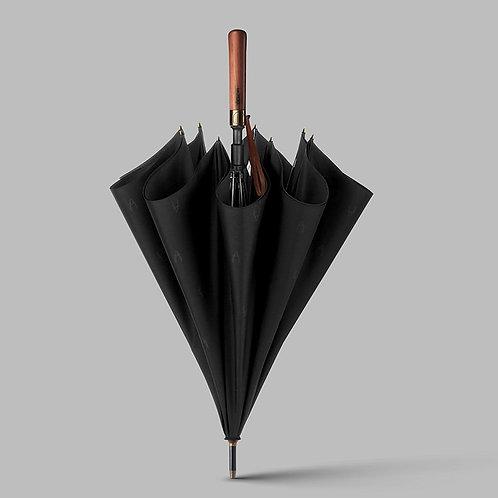 實木柄自動長雨傘