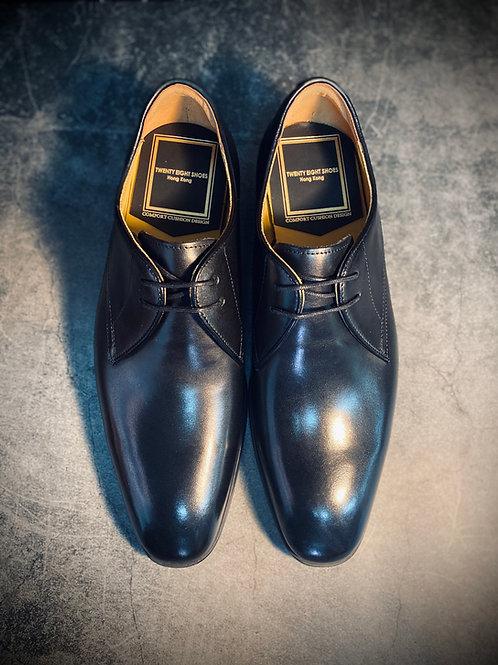純黑色手工擦色真皮皮鞋892702