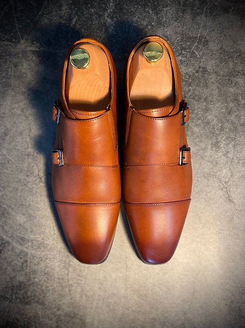 Leather Monk Strap Shoes 201608-22
