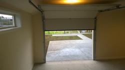 Rear garage door
