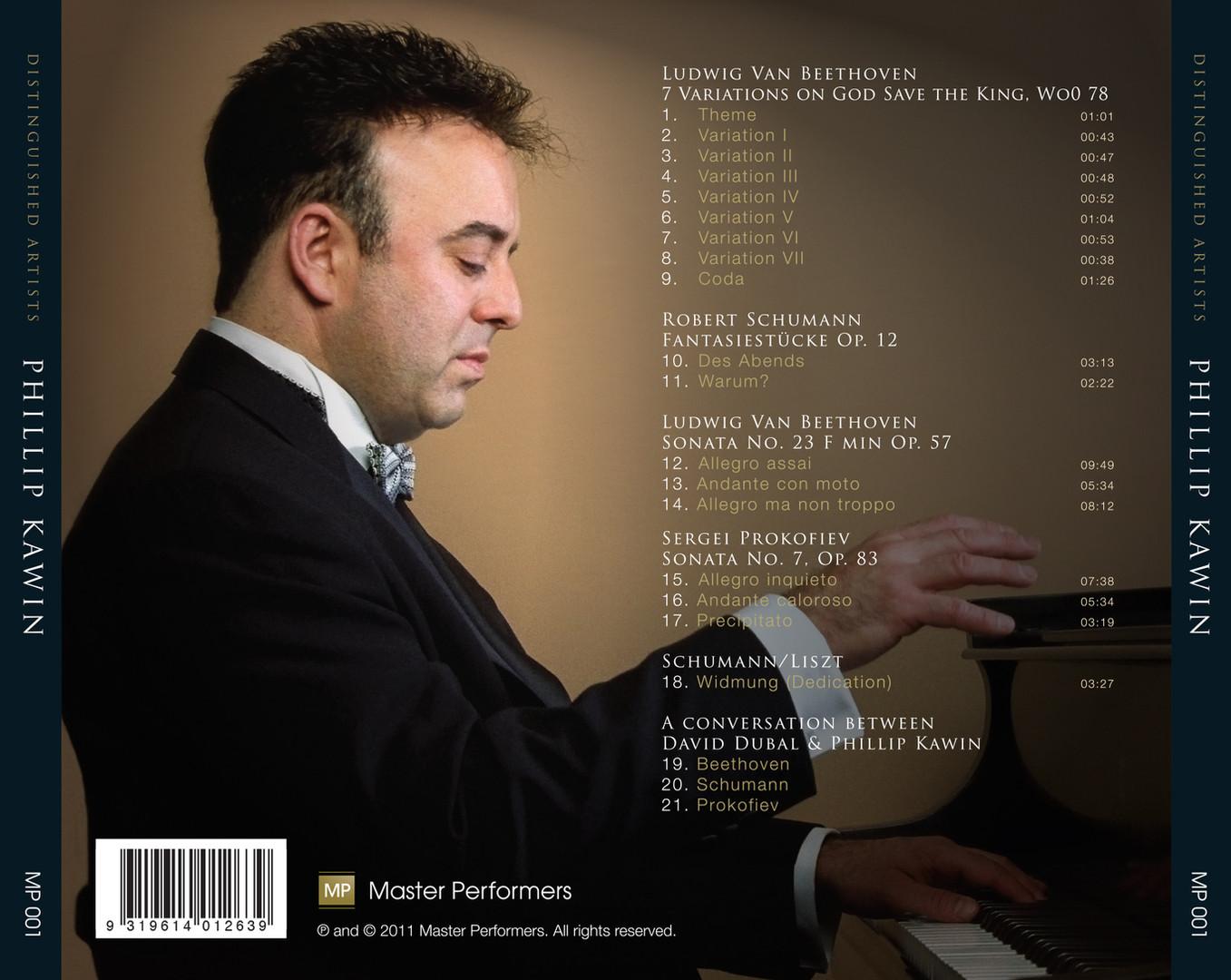 Phillip Kawin_Beethoven Schumann Schuman/Liszt Prokofiev CD tray