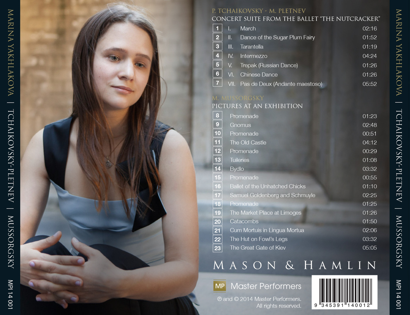 Marina Yakhlakova Tchaikovsky-Pletnev Mussorgsky CD Tray